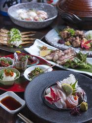 <要前日予約> 広島牛の炙り三昧の贅沢なコース。2Hのプレミアム飲み放題が付いた豪華コースです。