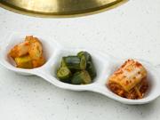 白菜・胡瓜・大根のセット。焼肉の箸休めにおすすめです。
