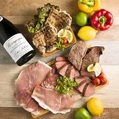 欲張り食べ放題 1480円肉盛りプレート&赤ワイン
