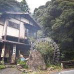 静岡駅より車で40分。自然の中にある大きな水車が目印のお店です