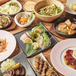 人気のグランドメニュー141種が2時間食べ飲み放題!!肉寿司、蒸し牡蠣が付いたスペシャルプラン♪