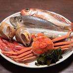 「のど黒」をはじめとした富山の新鮮な魚介類