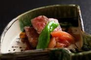 京都牛のステーキ