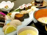 竹寿司(料理長おまかせ 宮古地魚寿司)