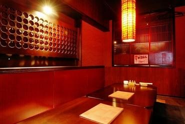 個室は13部屋。ゆっくり食事・お酒が楽しめます