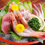 新鮮な魚介類をご賞味ください。
