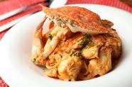 『渡り蟹のトマトクリームソース 生パスタ』