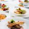 魚介と自社農園野菜とパルマ産生ハムの冷製パスタ