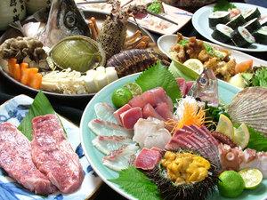 旬の魚介や野菜を豪快に蒸し焼きに『宝楽焼コース』