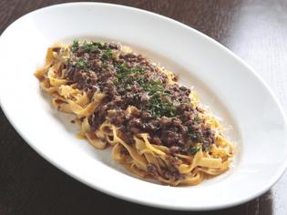 食感が自慢『和牛のボローニャ風ミートソース フィットチーネ』