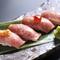 ◆黒毛和牛大とろ炙り牛寿司(4貫)◆