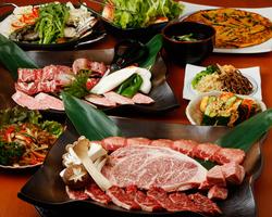 肉の種類が多いコースや、肉のグレードが高いコースもございます。