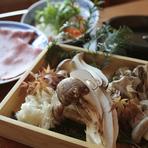 秋の代名詞の香り高き松茸と関西風すき焼きを贅沢に満喫して下さい。 9月17日より提供開始です。