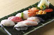 近海、道産の美味しさが自慢! 『北の寿し』 一人前 十貫