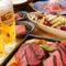 お肉の前菜から、季節の素材や当店自慢の一品、牛ロースステーキとあらゆるシーンに活躍できるコースです♪