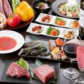 焼栄で食べて欲しいものを詰め込んだコースでございます。宴会をはじめ、接待にもご利用頂けます。