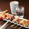 お店の人気No.1! 『三河地鶏の串焼き&おすすめ串焼き』