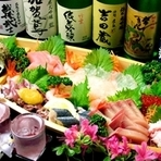 金沢の旬の食材を取り揃えた「高級海鮮コース」など多数用意