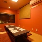 1階の個室は最大6名様までご利用可能です。