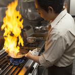 お客さんに満足してもらうために、食材を厳選、美味しい料理を