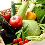 そのまま食べても濃厚な味わい。こだわりの新鮮野菜
