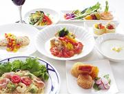 女子会にぴったり。たっぷりの野菜がうれしいディナーコースです。ワインと一緒にお楽しみください。 ワイン等飲み物付き 4,000円 コーヒー付き プラス200円