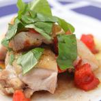 食材そのものの旨味が広がる『鶏肉のオレガノ風味焼』