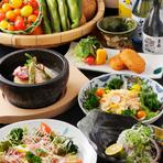 四季折々の旬の新鮮な素材を使用した料理をご堪能ください