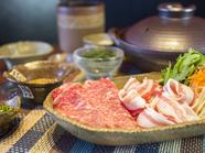 石垣美崎牛or国産牛サーロイン&紅アグーのしゃぶしゃぶ