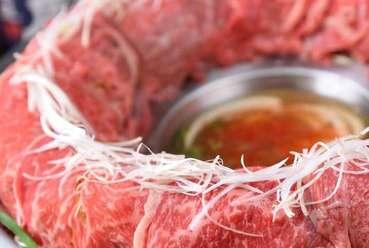 フォトジェニックな肉炊き鍋