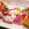 彩りも鮮やかな『前菜の盛り合わせ』は野菜の旨みを堪能