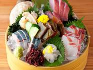 富山直送、鮮度抜群「キトキト」の旬の味が楽しめる『桶盛り中』