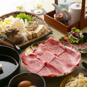 【黒・白・赤 選べるすきやき+和牛逸品コース】※料理のみ