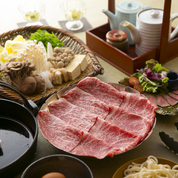 【黒毛和牛クラシタ(100g)すきやきコース】 ※料理のみ