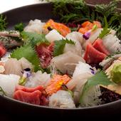 瀬戸内海の天然物、新鮮で味わいのある魚貝類が堪能できます