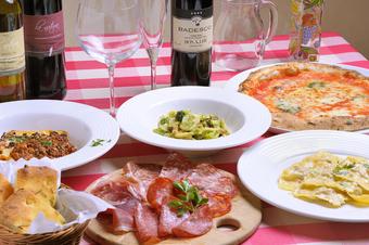 女子会やママ会におすすめ!お好みのパスタ、又はピッツァが選べるお得なコースです。