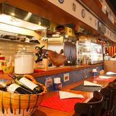 くつろげる雰囲気は女子会にも。スペインの料理と酒を満喫