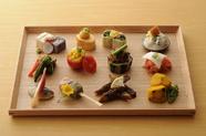 【ランチ】十二種類のおばんざい と 豆乳鍋のセット