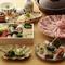豆乳湯豆腐と生麩や湯葉といった、京都らしい食材を様々な形でお愉しみいただけます。