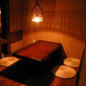 プライベート感覚で利用できる多種多彩な個室空間