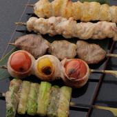 その日のイチオシの串焼きを盛り合わせ『五種盛り』