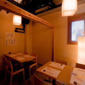 ほどよい空間が心地よい完全個室