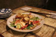 お豆ふと野菜のサラダ
