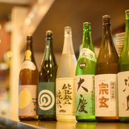 常時20種類以上揃えられている石川県の地酒