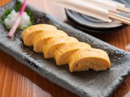 九州産の旨口醤油を使用した『大和なでしこ卵の出し巻き』