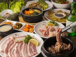 韓国焼肉の代表「サムギョプサル」をたくさん食べたい方必食!
