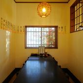 くつろぎの半個室はテーブル席と座敷があります