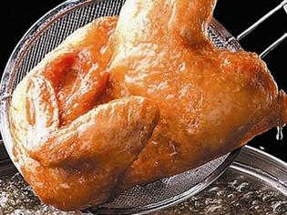 厳選した国産若鶏を使用した『若鶏の半身揚げ』