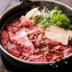 「讃岐オリーブ牛」をすき焼き又はしゃぶしゃぶをメインにしたコース