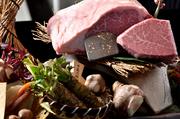 コース全13品!松阪牛の厳選した赤身(もも)を使用したコースです。鉄板焼きで、ももを使用した大変希少なコース。牛好きのオーナーがびっくりするほど鉄板とももの相性がよく大変ご好評いただいているコース
